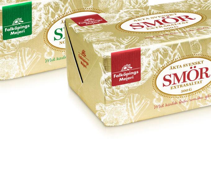Vårt smör är tillverkat av färsk svensk grädde!