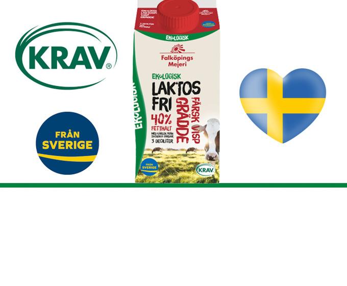 Laktosfri ekologisk färsk grädde - utan karragenan!