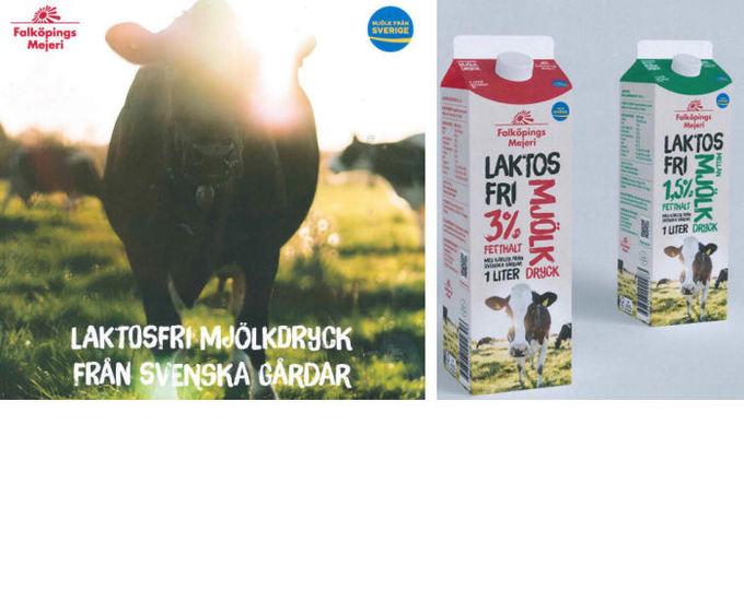 Laktosfri mjölkdryck från Falköpings Mejeri!